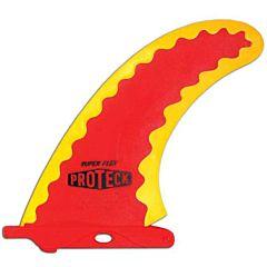 Surfco Hawaii - 7'' Super Flex Longboard Fin - Red/Yellow