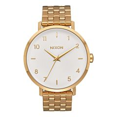 Nixon Women's Arrow Watch - All Gold/White