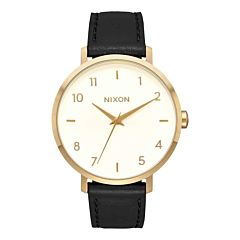 Nixon Women's Arrow Leather Watch - Gold/Cream/Black