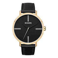 Nixon Arrow Leather Watch - Gold/Black/Silver
