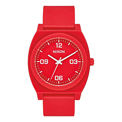 Nixon Women's Time Teller P Corp Watch - Matte Red/White