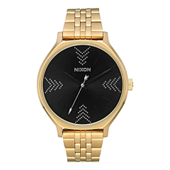 Nixon Women's Clique Watch - Gold/Black/Silver