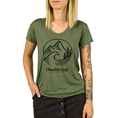 Cleanline Women's Pacific Northwest Slouchy T-Shirt - Army Green