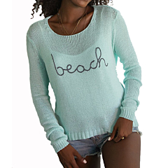 Wooden Ships Women's To The Beach Sweater - Hockney Pool/Carbon