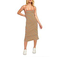 RVCA Womens Bianca Striped Dress - Multi - front