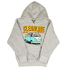 Cleanline Youth Bus Trip Cannon Beach Hoody - Athletic Heather
