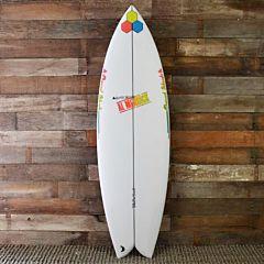 Channel Islands FishBeard 5'8 x 19 3/8 x 2 7/16 Surfboard - Fins - top