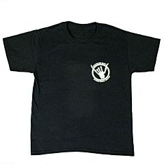 Cleanline Youth Shaka Bones Cannon Beach T-Shirt - Black