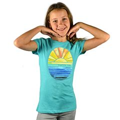 Cleanline Youth Golden Horizon Seaside T-Shirt - Tahiti Blue