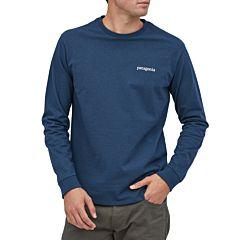 Patagonia Line Logo Ridge Long Sleeve Responsibili-Tee - Crater Blue