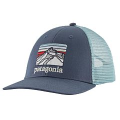 Patagonia Line Logo Ridge LoPro Trucker Hat - Dolomite Blue