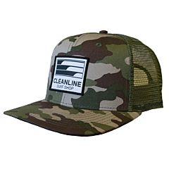 Cleanline Lines Mesh Hat - Army Camo/Surplus