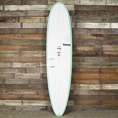 Torq Mini Longboard 8'0 x 22 x 3 Surfboard - Seagreen/White - Deck