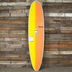 Torq Mini longboard 8'0 x 22 x 3 Surfboard - Grey/Yellow/Orange - Deck