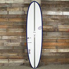 Torq Mod Fish 7'2 x 22 1/2 x 3 Surfboard - Grey/White - Deck