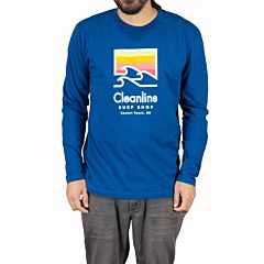 Cleanline Trilogy Long Sleeve T-Shirt - Cool Blue