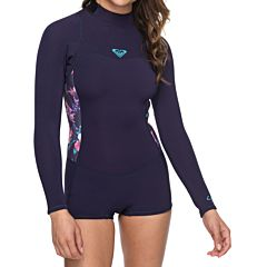 Roxy Women's Syncro 2mm Long Sleeve Spring Wetsuit - Blue Ribbon
