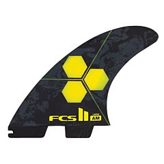 FCS II Al Merrick PC Large Tri-Quad Fin Set - Yellow