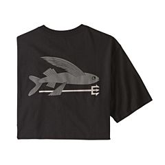 Patagonia Flying Fish Organic Cotton T-Shirt - Black