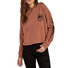 RVCA Womens Forged Hoodie - Sequoia = front