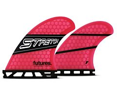 Futures Fins Stretch Quad Fin Set - Pink/Black