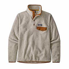Patagonia Women's Lightweight Synchilla Snap-T Sweatshirt - Oatmeal Honey/Wood Brown