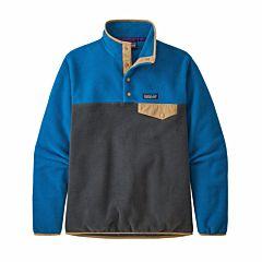 Patagonia Women's Lightweight Synchilla Snap-T Sweatshirt - Smolder Blue/Alpine Blue