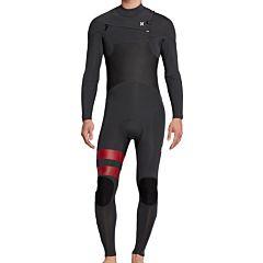 Hurley Advantage Plus 4/3 Chest Zip Wetsuit - Anthracite