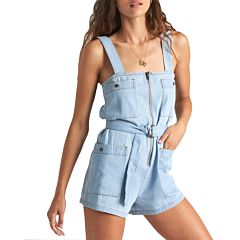 Billabong Women's Light The Day Jumpsuit - Chambray - front