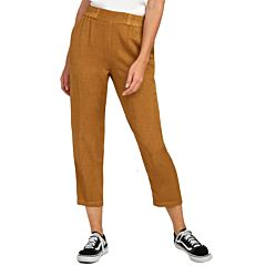 RVCA Womens Manila Pant - Antique Bronze - front