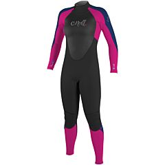 O'Neill Youth Girls Epic 3/2 Wetsuit - Black/Berry/Navy