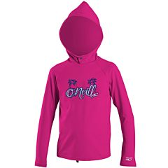 O'Neill Wetsuits Toddler Skins Hooded Long Sleeve Rash Tee - Berry
