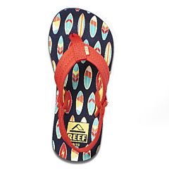 Reef Youth Little Ahi Sandals - Red Surfer - Top