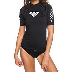 Roxy Women's Whole Hearted Short Sleeve Rash Guard - Anthracite