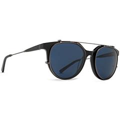 Von Zipper Hyde Sunglasses - Black Gloss Satin Gunmetal/Light Blue Vintage