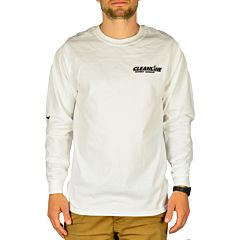 Cleanline Retro Wave Long Sleeve T-Shirt - White - Front