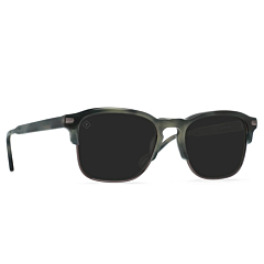 Raen Wiley Alchemy Sunglasses - Charcoal Tortoise/Darker Smoke - Side Angle