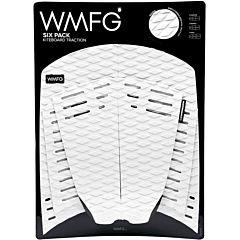 WMFG Six Pack Kiteboard Deck Pad - White/Black