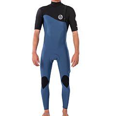 Rip Curl E-Bomb 2mm Short Sleeve Zip Free Wetsuit - Black/Blue