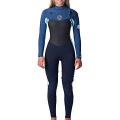 Rip Curl Women's Flashbomb 3/2 Chest Zip Wetsuit - Blue
