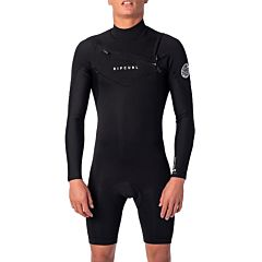 Rip Curl Dawn Patrol 2mm Long Sleeve Chest Zip Spring Wetsuit - Black