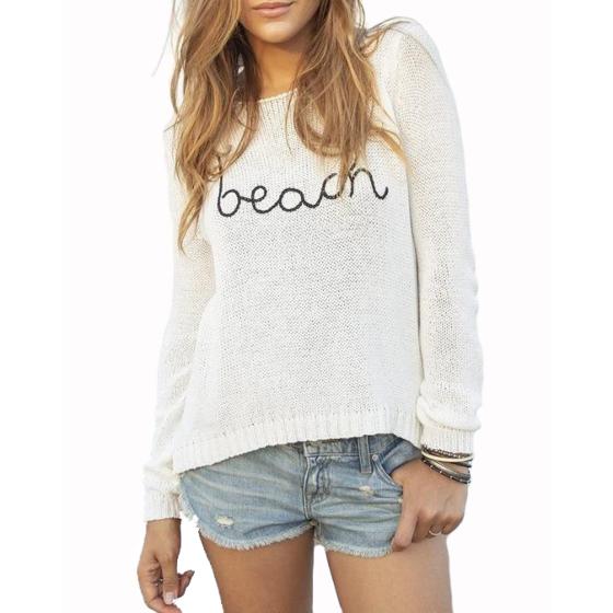 Wooden Ships Women's To The Beach Sweater - Breaker White/Black
