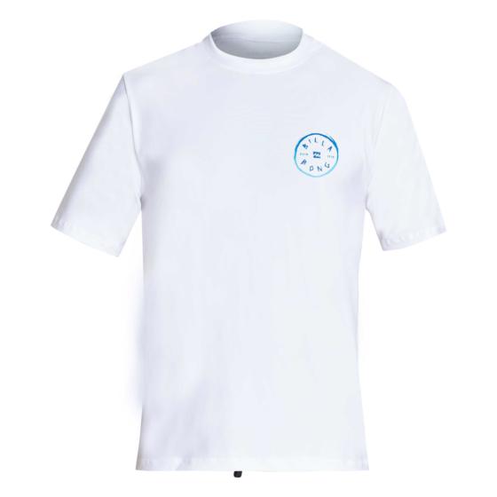 Billabong Rotohand Loose Fit Short Sleeve Rash Guard - White