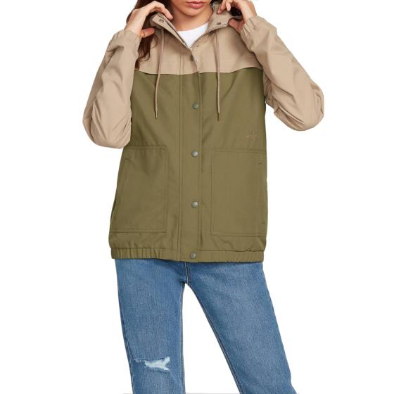 Volcom Women's Enemy Stone Jacket - Dusty Green - front