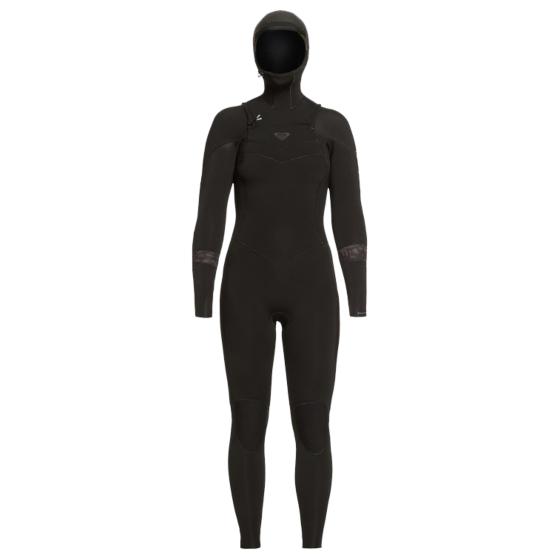 Roxy Women's Syncro 5/4/3 Hooded Chest Zip Wetsuit