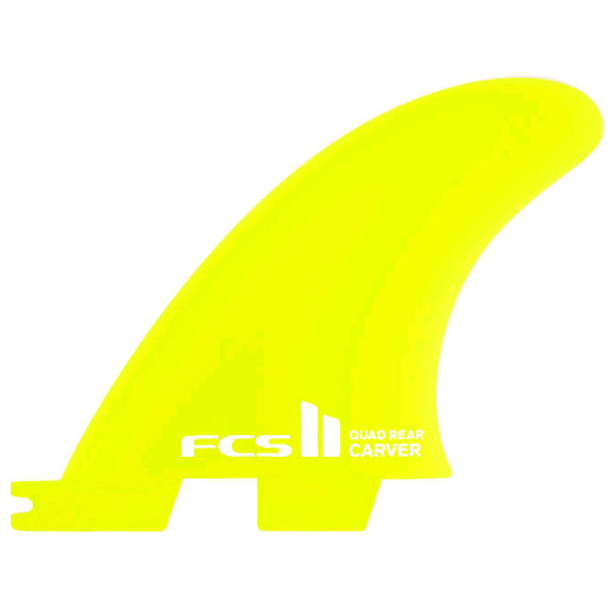 FCS II Fins Carver Neo Glass Quad Rears Medium - Lime