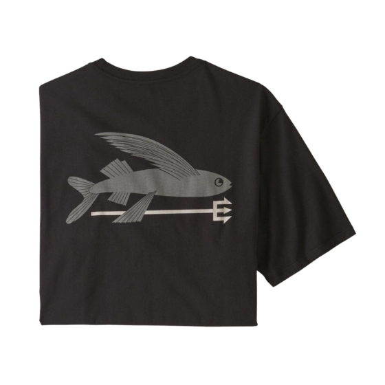 Patagonia Flying Fish Organic Cotton T-Shirt - Black