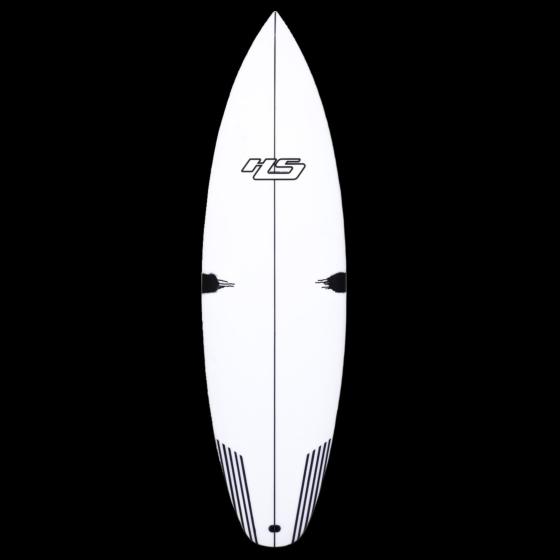HaydenShapes White Noiz PE-C Surfboard - Deck