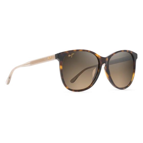 Maui Jim Women's Isola Sunglasses - Tortoise with Transparent Tan Temples- Angle