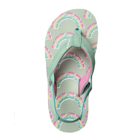 Volcom Youth Little Girls Vicky Sandals - Seaglass - Top